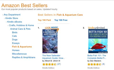 The New Saltwater Aquarium Guide gets the # 1 Ranking on Amazon